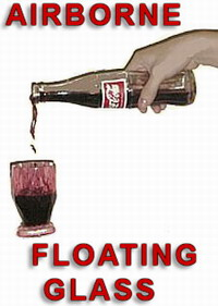 AIRBORNE FLOATING GLASS - PLASTIC BOTTLE VERSION