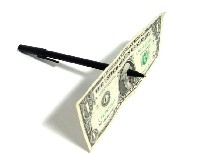 PEN THRU DOLLAR BILL - WITH FREE $10 DVD