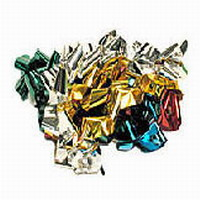 STREAMERS FROM MOUTH - SHINY MYLAR - 20FT